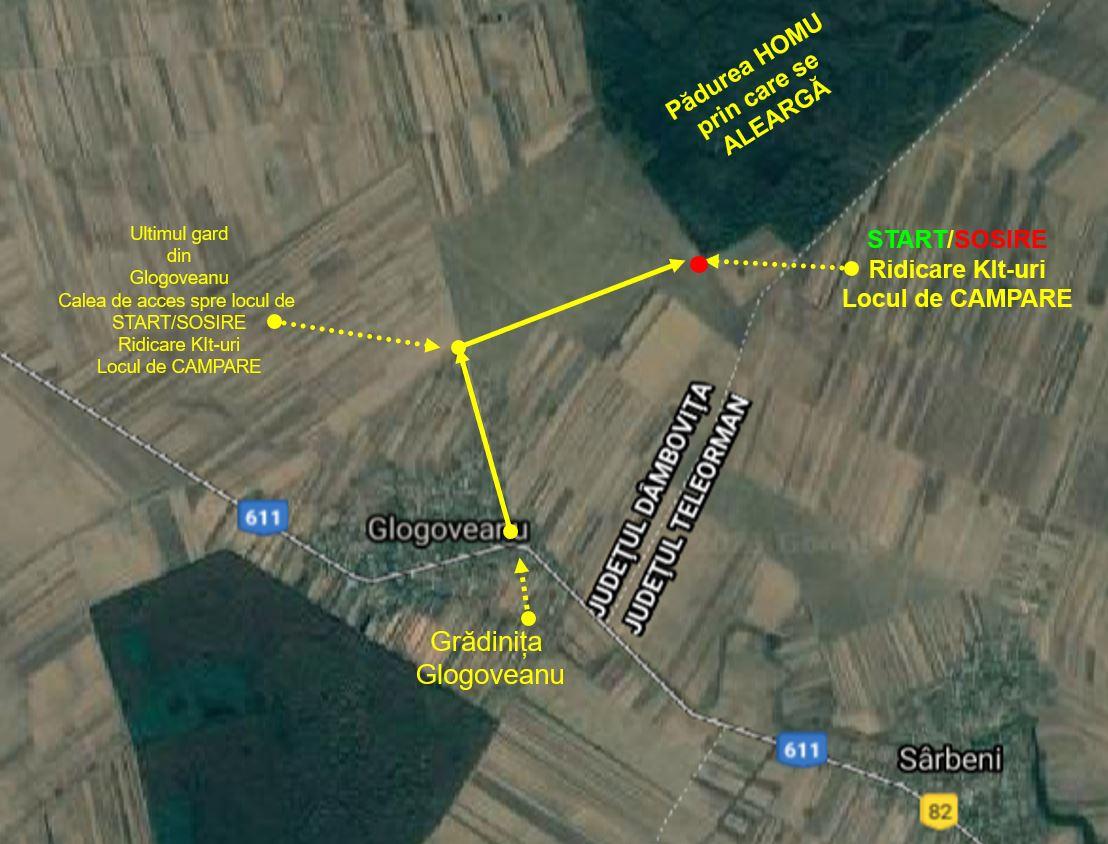 Zona de start și finish Alerg în Dumbrava 2021